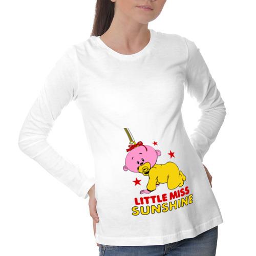 Лонгслив для беременных хлопок Little miss sunshine