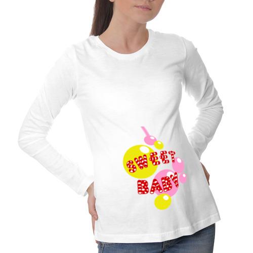 Лонгслив для беременных хлопок Sweet baby print
