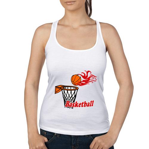 Женская майка борцовка  Фото 01, Баскетбол (огненный мяч)