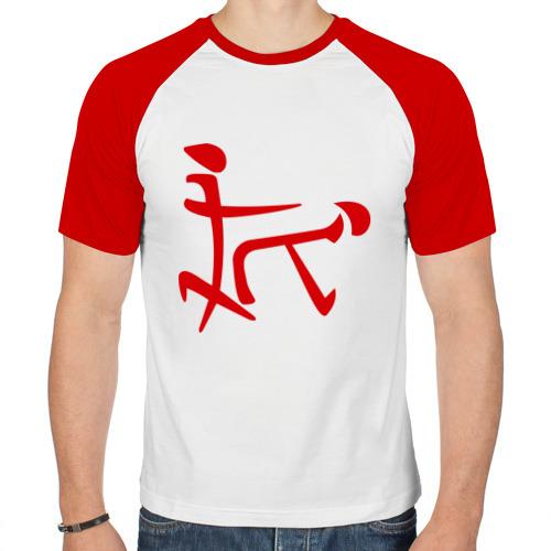 Мужская футболка реглан  Фото 01, Иероглиф любви