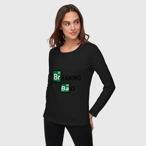 Женский лонгслив хлопок  Фото 03, Breaking Bad logo
