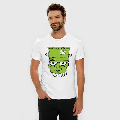 Мужская футболка премиум  Фото 03, зеленый франкенштейн