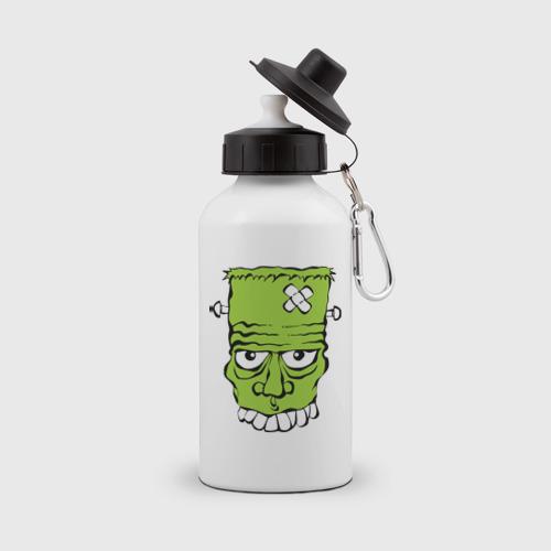 Бутылка спортивная  Фото 01, зеленый франкенштейн