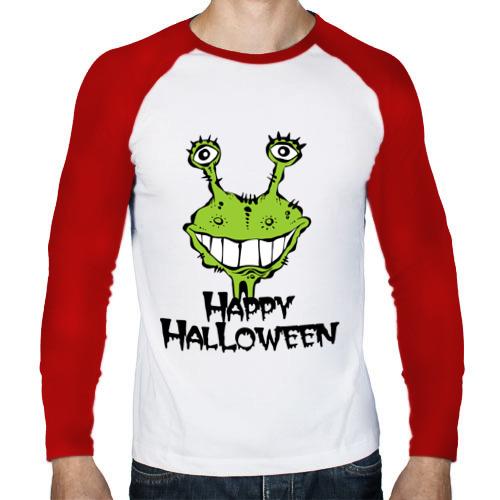 Мужской лонгслив реглан  Фото 01, Happy Halloween -монстрик