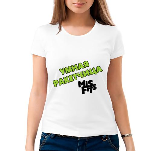 Женская футболка хлопок  Фото 03, умная ракетчица