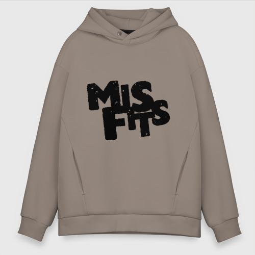 Мужское худи Oversize хлопок Misfits лого Фото 01
