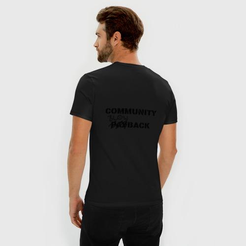 Мужская футболка премиум Community blowback Фото 01