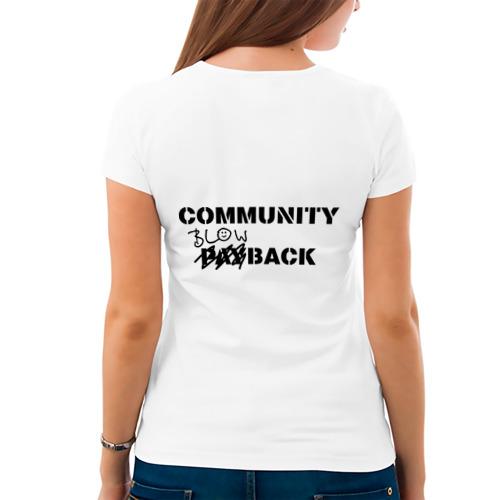 Женская футболка хлопок  Фото 04, Community blowback