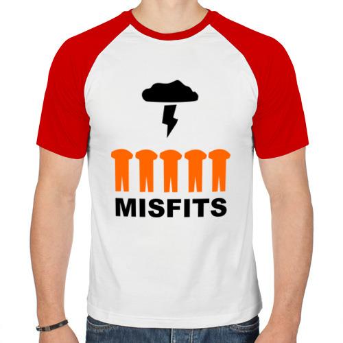 Мужская футболка реглан  Фото 01, оранжевые костюмы