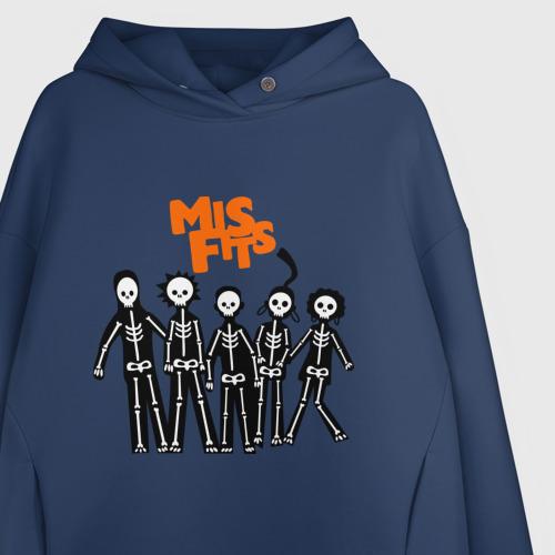 Женское худи Oversize хлопок Misfits- скелеты Фото 01