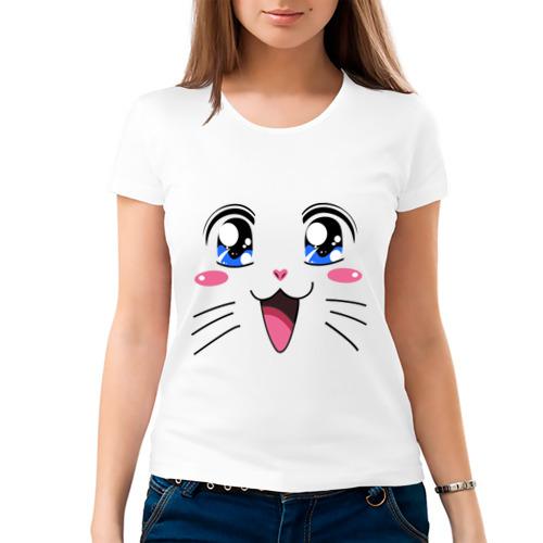 Женская футболка хлопок  Фото 03, Японская кошечка
