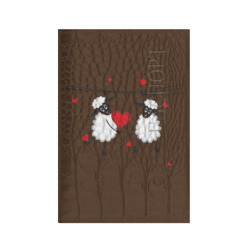 Red heart with sheep