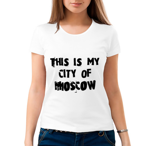 Женская футболка хлопок  Фото 03, This is my city