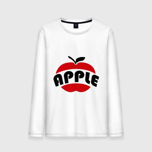 Мужской лонгслив хлопок Яблоко apple