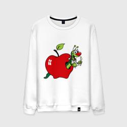 Яблочко с червячком