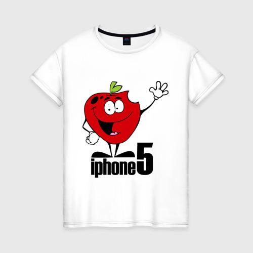 Женская футболка хлопок iphone 5