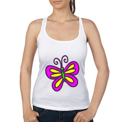 Женская майка борцовка  Фото 01, Яркая бабочка
