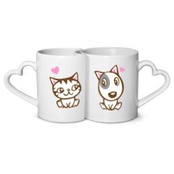 Котенок и песик