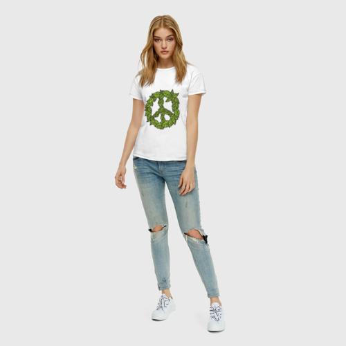 Женская футболка хлопок Венок мира Фото 01