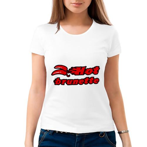 Женская футболка хлопок  Фото 03, Red Hot Brunette