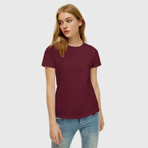 Женская футболка хлопок Паучок на спине Фото 01