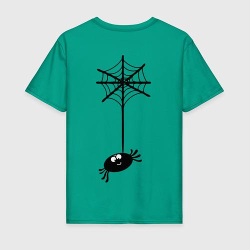 Мужская футболка хлопок Паучок на спине Фото 01