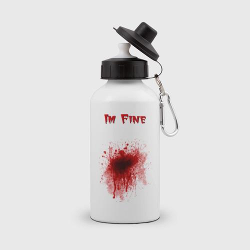 Бутылка спортивная Кровавое пятно