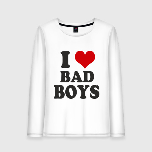 Женский лонгслив хлопок  Фото 01, i love bad boys - я люблю плохих парней