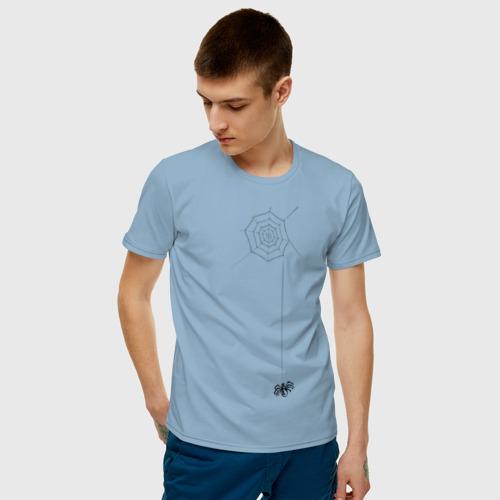 Мужская футболка хлопок Паутина на груди Фото 01