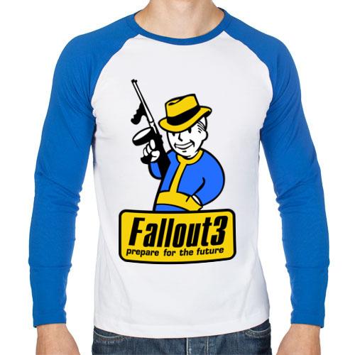 """Мужская футболка-реглан с длинным рукавом """"Fallout Man"""" - 1"""