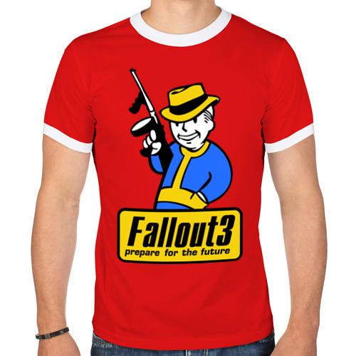 "Мужская футболка-рингер ""Fallout Man"" - 1"