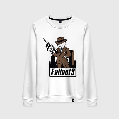 Женский свитшот хлопок Fallout Man with gun Фото 01