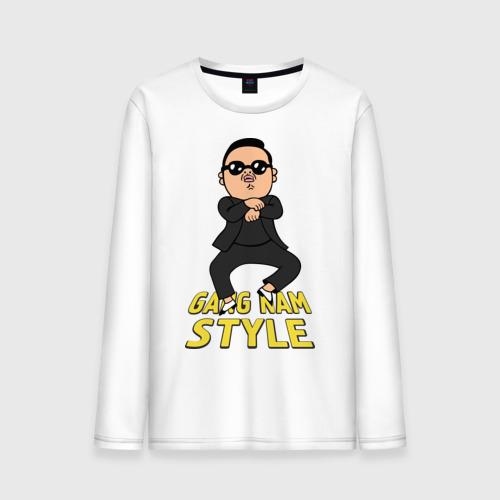 Мужской лонгслив хлопок Gangnam style real Фото 01