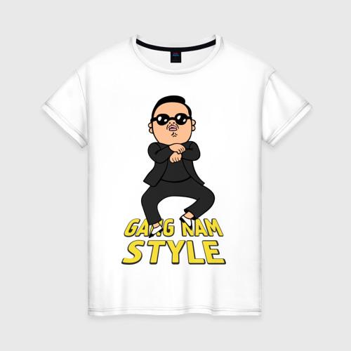 Женская футболка хлопок Gangnam style real Фото 01