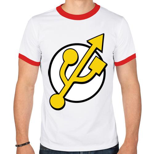 Мужская футболка рингер  Фото 01, Super USB