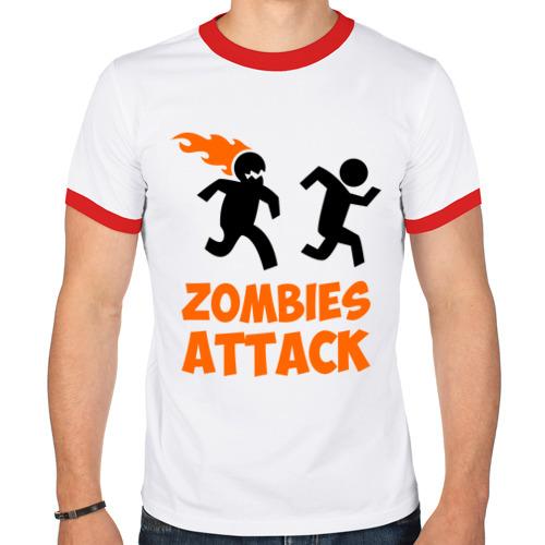 Мужская футболка рингер  Фото 01, Zombies Attack