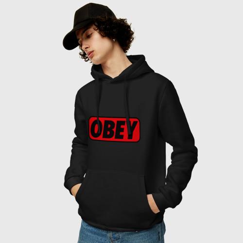 Мужская толстовка хлопок Лого OBEY Фото 01