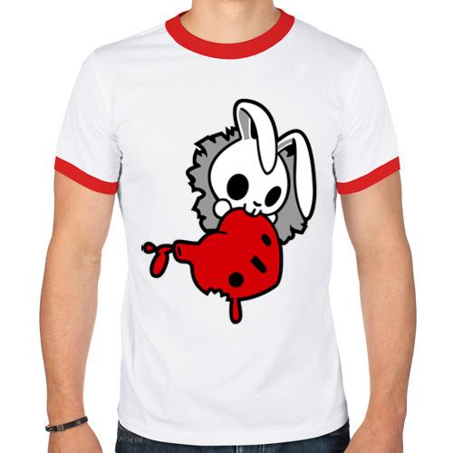 Мужская футболка рингер  Фото 01, Злой зайчик
