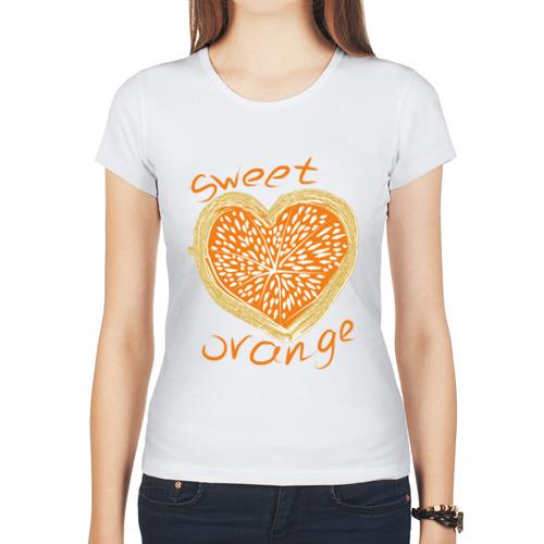 Женская футболка полусинтетическая