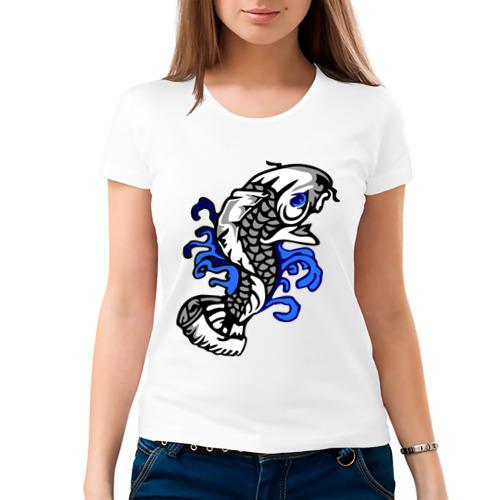 Женская футболка хлопок  Фото 03, Рыба - карп
