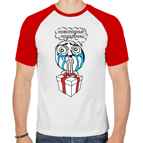 Мужская футболка реглан  Фото 01, Новогодние подарочки