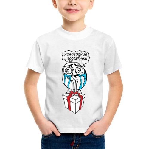 Детская футболка синтетическая Новогодние подарочки от Всемайки