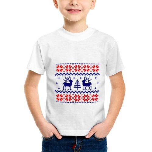 Детская футболка синтетическая Узор олени