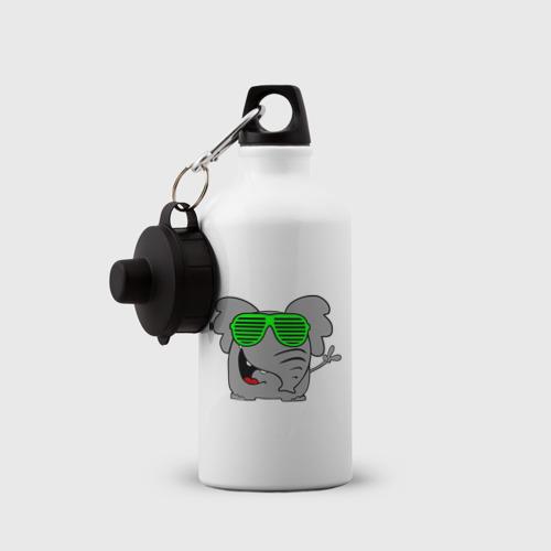 Бутылка спортивная  Фото 03, Слон в очках