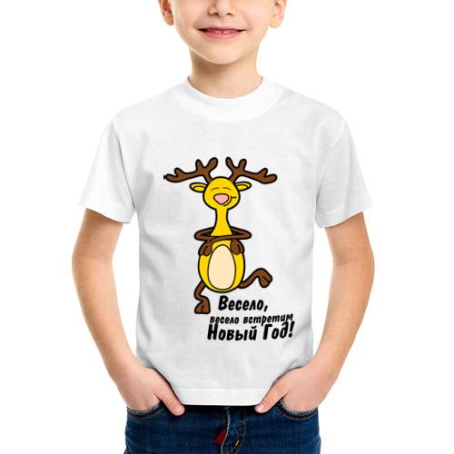 Детская футболка синтетическая Happy deer
