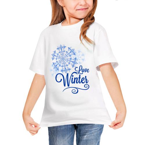 Детская футболка синтетическая Love Winter от Всемайки