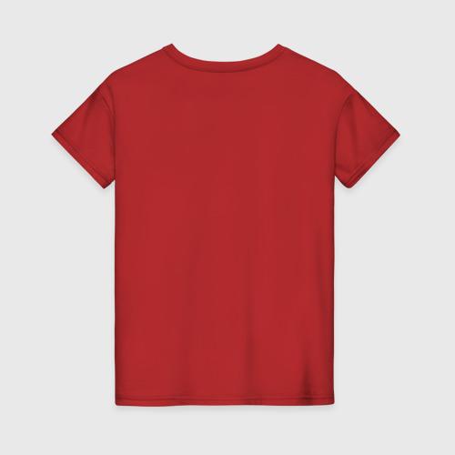 Женская футболка хлопок Черная/Белая кошечка Фото 01