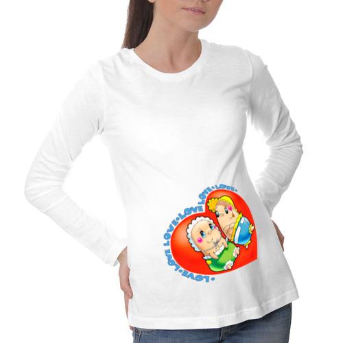Лонгслив для беременных хлопок КАРАПУЗЫ