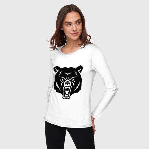 Женский лонгслив хлопок  Фото 03, Медведь
