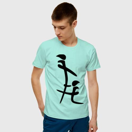 Мужская футболка хлопок иероглиф blow job Фото 01